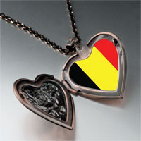 Necklace & Pendants - belgium flag heart locket pendant necklace Image.