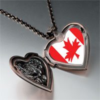 Necklace & Pendants - canada flag heart locket pendant necklace Image.