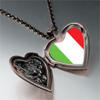 Necklace & Pendants - italy flag heart locket pendant necklace Image.
