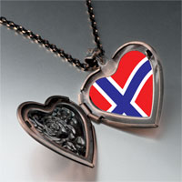 Necklace & Pendants - norway flag heart locket pendant necklace Image.