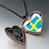 Necklace & Pendants - sweden flag heart locket pendant necklace Image.