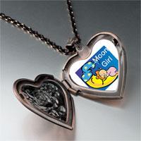 Necklace & Pendants - moon girl heart locket pendant necklace Image.