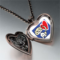 Necklace & Pendants - scottish fold cat heart locket pendant necklace Image.