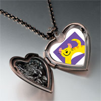 Necklace & Pendants - american curl cat heart locket pendant necklace Image.