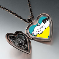 Necklace & Pendants - norwegian forest cat heart locket pendant necklace Image.
