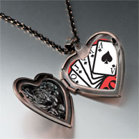 Necklace & Pendants - i love poker heart locket pendant necklace Image.