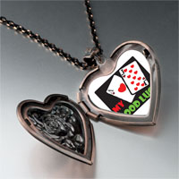 Necklace & Pendants - good luck heart locket pendant necklace Image.