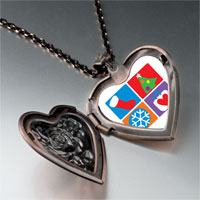 Necklace & Pendants - various christmas decorations heart locket pendant necklace Image.