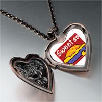 Necklace & Pendants - sweet as pie heart locket pendant necklace Image.