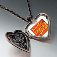 Necklace & Pendants - happy thanksgiving photo heart locket pendant necklace Image.