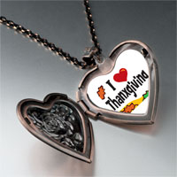 Necklace & Pendants - i love thanksgiving heart locket pendant necklace Image.