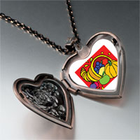 Necklace & Pendants - thanksgiving food basket heart locket pendant necklace Image.