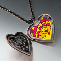 Necklace & Pendants - bright yellow turkey heart locket pendant necklace Image.