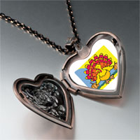 Necklace & Pendants - colorful autumn turkey heart locket pendant necklace Image.