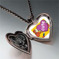 Necklace & Pendants - cute heart heart locket pendant necklace Image.