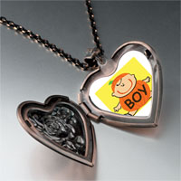 Necklace & Pendants - cute jack o lantern halloween pumpkin boy heart and rose pendant Image.