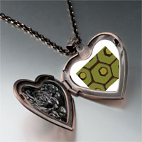 Necklace & Pendants - tortoise skin heart locket pendant necklace Image.