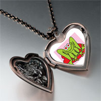Necklace & Pendants - lovable frog photo heart locket pendant necklace Image.
