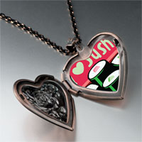 Necklace & Pendants - i heart sushi rolls heart locket pendant necklace Image.