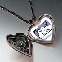 Necklace & Pendants - turtle doves photo storybook heart locket pendant necklace Image.