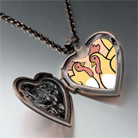 Necklace & Pendants - french hens photo storybook heart locket pendant necklace Image.