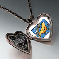 Necklace & Pendants - calling birds photo storybook heart locket pendant necklace Image.