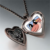 Necklace & Pendants - geese laying photo storybook heart locket pendant necklace Image.