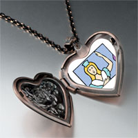 Necklace & Pendants - ladies dancing photo storybook heart locket pendant necklace Image.