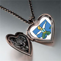 Necklace & Pendants - lords leaping photo storybook heart locket pendant necklace Image.