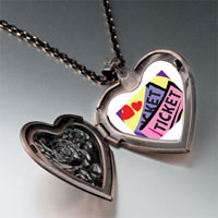 Necklace & Pendants - love heart tickets heart locket pendant necklace Image.