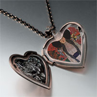 Necklace & Pendants - portrait adele bloch bauer heart locket pendant necklace Image.
