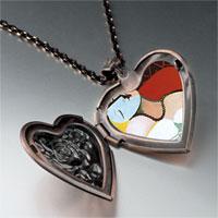 Necklace & Pendants - dream painting heart locket pendant necklace Image.