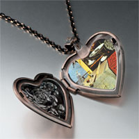 Necklace & Pendants - still life moving fast painting heart locket pendant necklace Image.