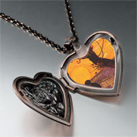Necklace & Pendants - sower painting heart locket pendant necklace Image.
