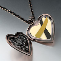Necklace & Pendants - black gold heart locket pendant necklace Image.