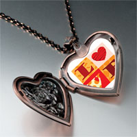 "Necklace & Pendants - valentine' s day  "" love""  photo italian heart locket pendant necklace Image."