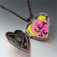 Necklace & Pendants - leap year pink heart photo heart locket pendant necklace Image.