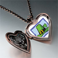 Necklace & Pendants - patrick' s day theme photo heart rose heart locket pendant green hat gifts for women necklace Image.