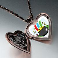 Necklace & Pendants - a pot gold heart locket pendant necklace Image.