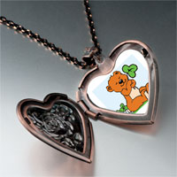 Necklace & Pendants - patrick' s day theme photo heart rose heart locket pendant shamrock cute bear gifts for women necklace Image.