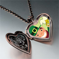 Necklace & Pendants - patrick' s day theme photo heart rose heart locket pendant leprechaun beer gifts for women necklace Image.