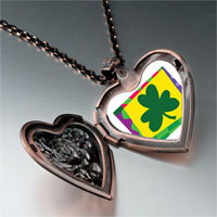 Necklace & Pendants - patrick' s day theme photo heart rose heart locket pendant shamrock gifts for women necklace Image.