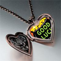 Necklace & Pendants - good luck pot gold heart locket pendant necklace Image.