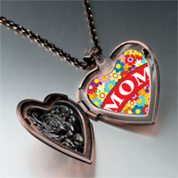 Necklace & Pendants - mother' s day theme photo heart rose heart locket pendant gifts for women necklace Image.