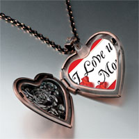 Necklace & Pendants - mother' s day theme photo heart rose heart locket pendant i love for women necklace Image.