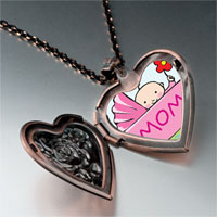 Necklace & Pendants - baby cart heart locket pendant necklace Image.