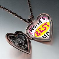 Necklace & Pendants - mother' s day theme photo heart rose heart locket pendant world' s best for women necklace Image.