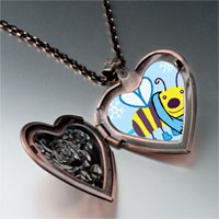 Necklace & Pendants - cartoon theme photo heart rose heart locket pendant bee cool gifts for women necklace Image.