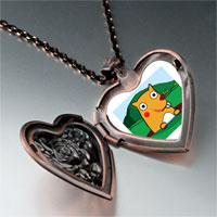Necklace & Pendants - cartoon theme photo heart rose heart locket pendant groundhog day easter gifts for women necklace Image.