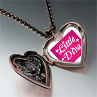 Necklace & Pendants - cartoon theme photo heart rose heart locket pendant little diva easter gifts for women necklace Image.